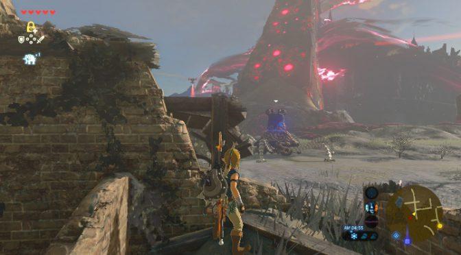 【写真あり】ゼルダの伝説ブレスオブザワイルド 開始早々最終地点へ突撃してみた結果…