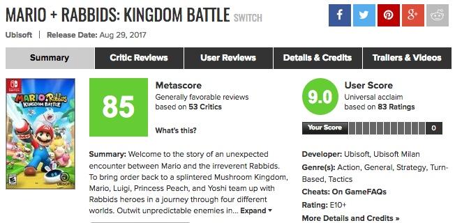 Switch「マリオ+ラビッツ キングダムバトル」発売直後、海外プレイヤーの感想まとめ
