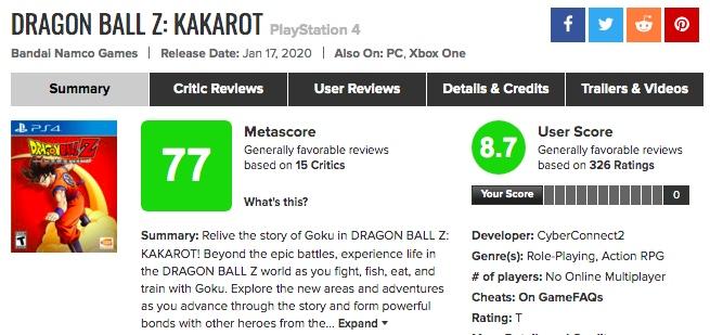 海外の評価が高い!「ドラゴンボールKAKAROT」海外プレイヤーの感想まとめ