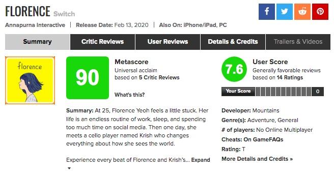 恋愛アドベンチャー「FLORENCE(フローレンス)」海外プレイヤーの評価、賛否の理由は?だった